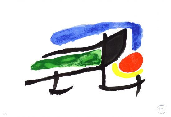 "Joan Miró Lithograph, Catalogue Image for the exhibition ""Miro el tapis de Tarragona"", 1970"