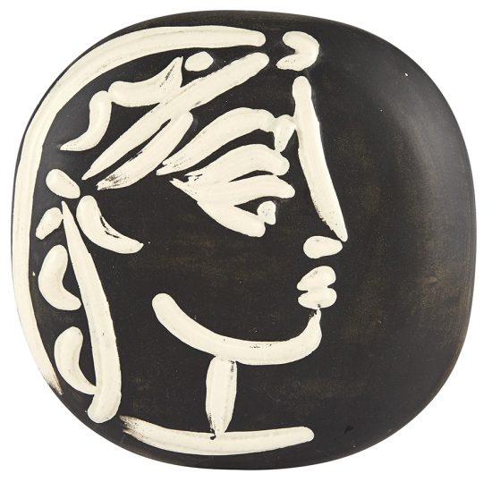 Pablo Picasso Lithograph, Ceramic, Profil de Jacqueline (Jacqueline's Profile), 1956 A.R. 385