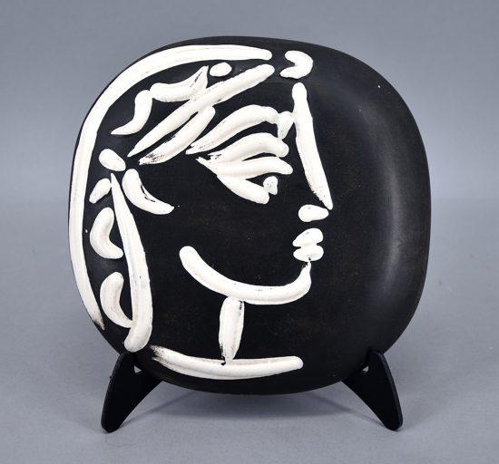 Pablo Picasso Ceramic, Ceramic, Profil de Jacqueline (Jacqueline's Profile), 1956 A.R. 385