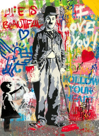 Mr. Brainwash Silkscreen, Chaplin, 2020