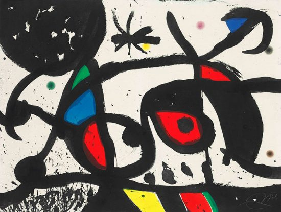 Joan Miró Aquatint, Charivari (Racket), 1976