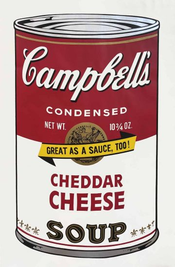 Andy Warhol Screen Print, Cheddar Cheese Soup, from the Campbell's Soup Series II, 1969