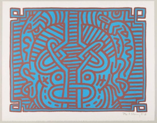 Keith Haring Lithograph, Chocolate Buddha (Plate 1), 1989