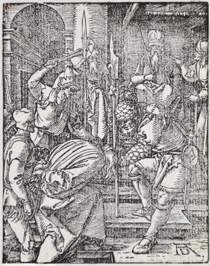 Albrecht Dürer Lithograph, Christ Before Annas (The Small Passion), 1612