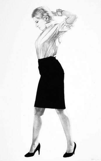 Robert Longo Lithograph, Cindy, from Men in the Cities, 2002