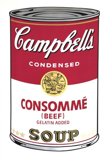 Andy Warhol Screen Print, Consommé Soup, from the Campbell's Soup I Portfolio, 1968