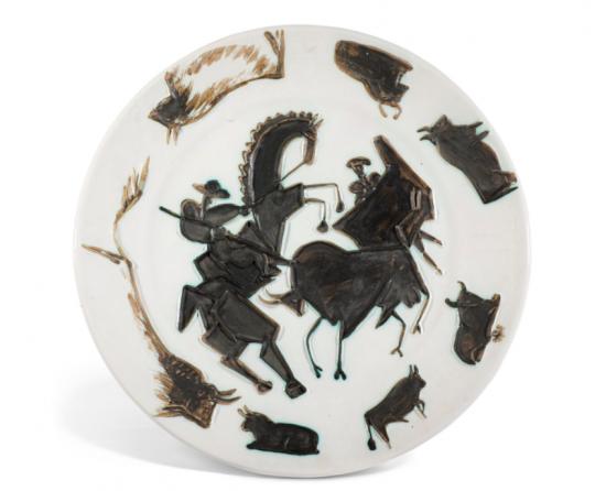 Pablo Picasso Ceramic, Corrida (Bullfight), 1953 A.R. 182