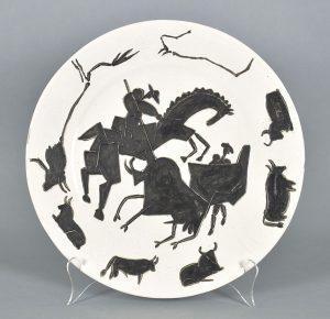 Pablo Picasso Ceramic, Corrida (Bullfight), 1953