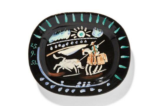 Pablo Picasso Ceramic, Corrida soleil (Corrida sun), 1953 A.R. 199
