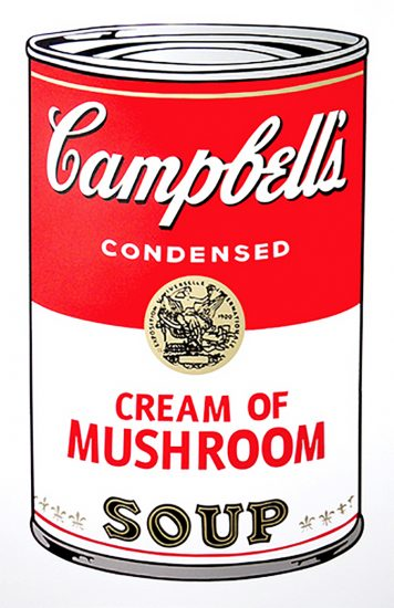 Andy Warhol Screen Print, Cream of Mushroom Soup, from the Campbell's Soup I Portfolio, 1968