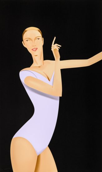 Alex Katz Silkscreen, Dancer 1, 2019