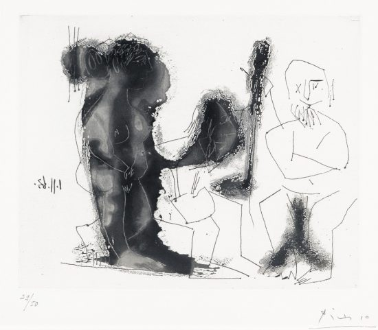 Pablo Picasso Aquatint, Dans l'Atelier (In the workshop), 1963