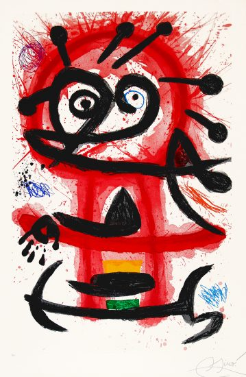 Joan Miró Etching, Danseuse Créole (Creole Dancer), 1978