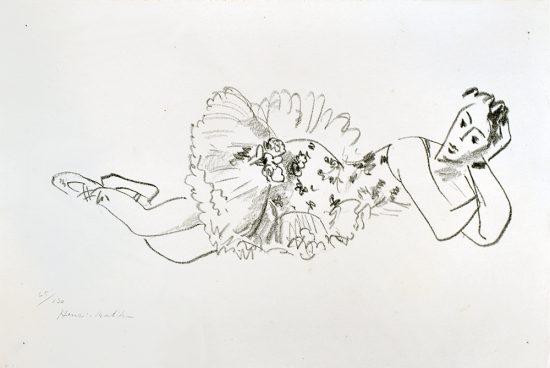 Henri Matisse Lithograph, Danseuse allongée, Tête accoudée from Dix Danseuses, 1925-26