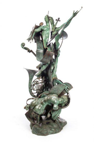 Arman Sculpture, Discordia nell'Armonia (Discord in Harmony), 1990