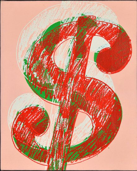 Andy Warhol Screen Print, $ (Dollar), 1981-1982