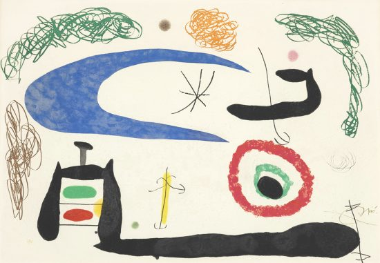 Joan Miró Aquatint, Dormir Sous La Lune (Sleeping under the Moon), 1969