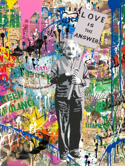Mr. Brainwash Silkscreen, Einstein, 2019