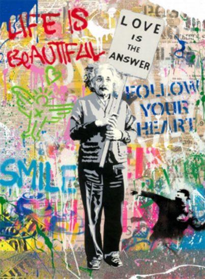 Mr. Brainwash Lithograph, Einstein, 2020