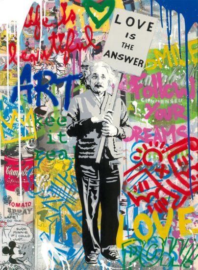 Mr. Brainwash Silkscreen, Einstein, 2021