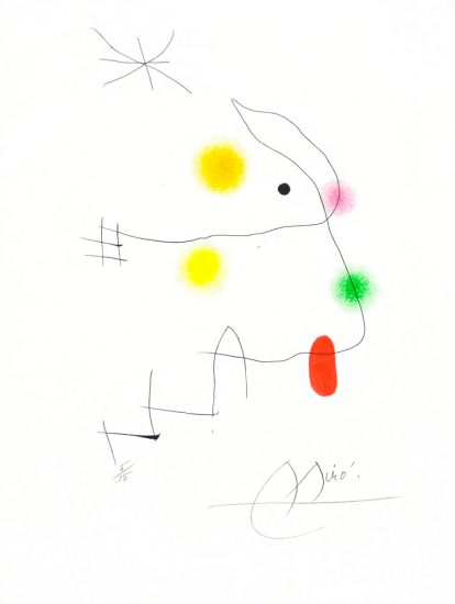 Joan Miró Etching, El Inocente (The Innocent) pl. 11, 1974