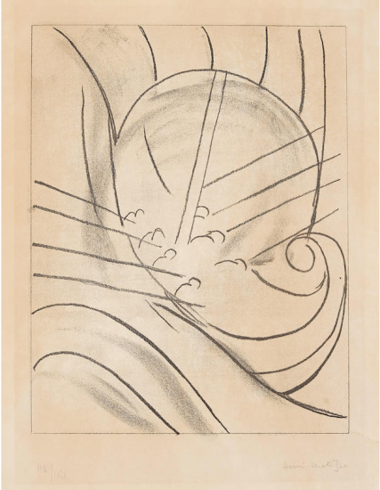 Henri Matisse Etching, Éole, from Ulysses, 1935