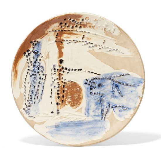 Pablo Picasso Ceramic, Estocado, from Service Scènes de Corrida (Set of 7 plates), 1959