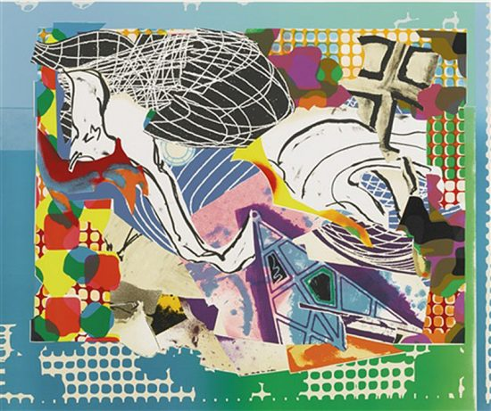 Frank Stella Mixed, Extracts, State I, from the Moby Dick Deckle Edges Series, 1993