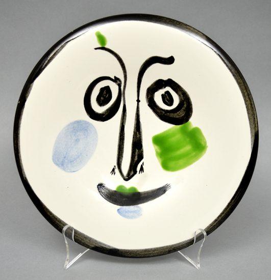 Pablo Picasso Ceramic, Visage No. 197 (Face No. 197), 1963