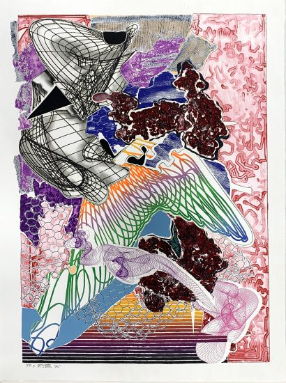 Frank Stella Etching, Fanattia Unique TP, from the Imaginary Places Series, 1995