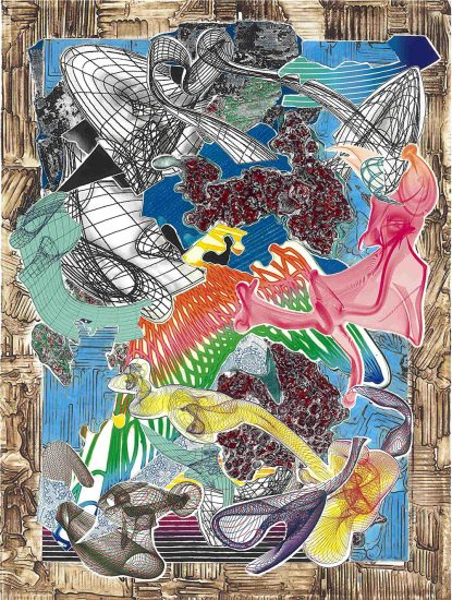 Frank Stella Etching, Fanattia, from the Imaginary Places Series, 1995