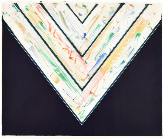 Kenneth Noland Monotype, Farallons #16, 1985