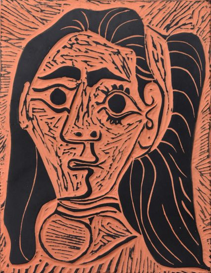 Pablo Picasso Lithograph, Femme au Cheveux Flous (Fluffy-haired Woman), 1964 A.R. 520
