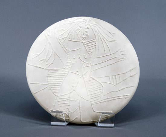 Pablo Picasso Ceramic, Femme Échevelée (Disheveled Woman), 1963 A.R. 510