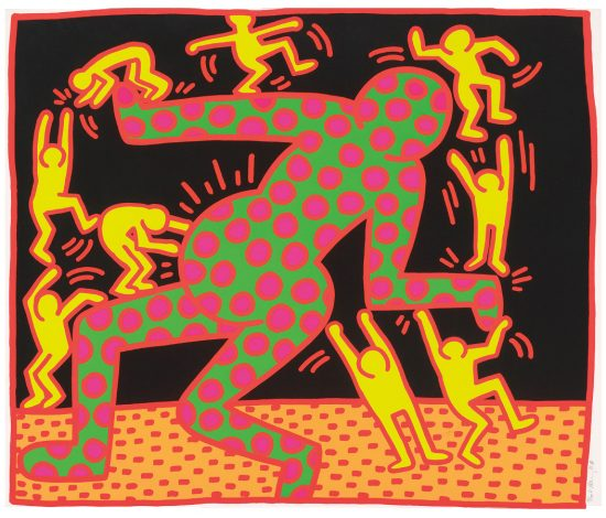 Keith Haring Screen Print, Fertility Untitled 3, from the Fertility Suite, 1983
