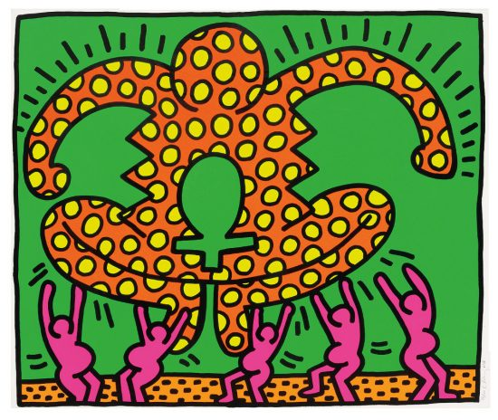 Keith Haring Screen Print, Fertility Untitled 4, from the Fertility Suite, 1983