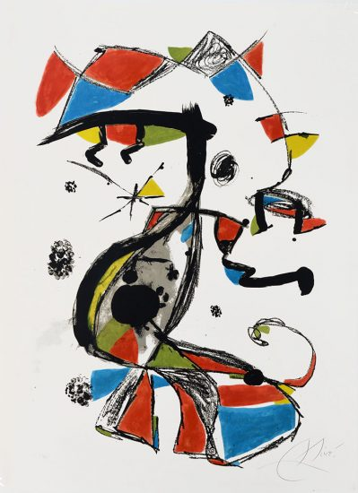 Joan Miró Lithograph, Festa Major, 1978