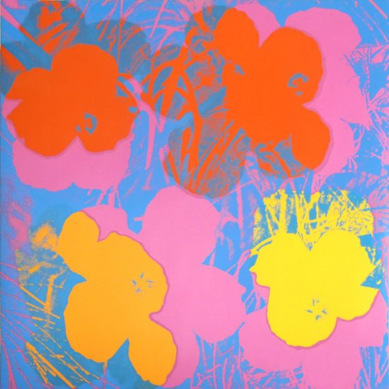 Andy Warhol Screen Print, Flowers 66, from Flowers Portfolio, 1970