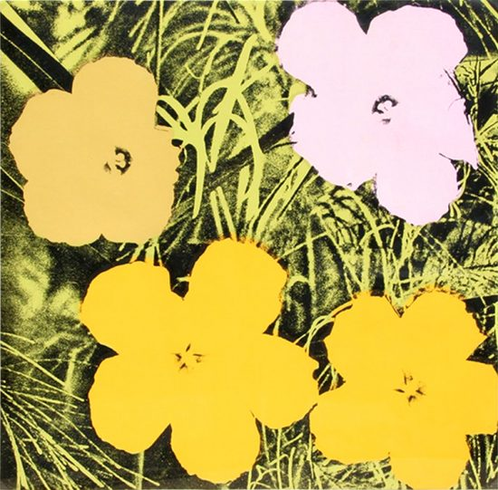 Andy Warhol Screen Print, Flowers 67, from Flowers Portfolio, 1970
