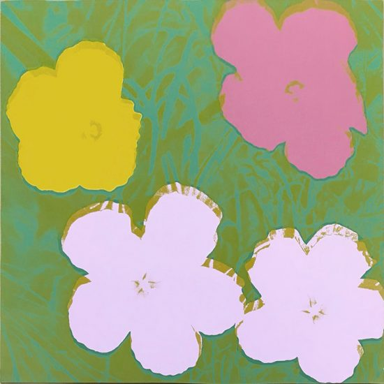 Andy Warhol Screen Print, Flowers 68, from Flowers Portfolio, 1970