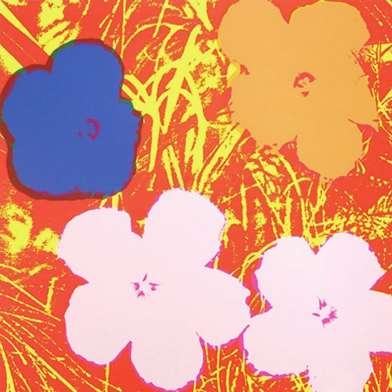 Andy Warhol Screen Print, Flowers 69, from Flowers Portfolio, 1970