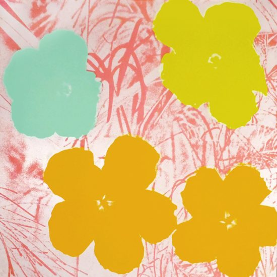 Andy Warhol Screen Print, Flowers 70, from Flowers Portfolio, 1970