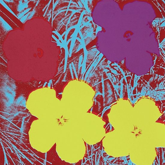 Andy Warhol Screen Print, Flowers 71, from Flowers Portfolio, 1970