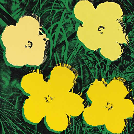 Andy Warhol Screen Print, Flowers 72, from Flowers Portfolio, 1970
