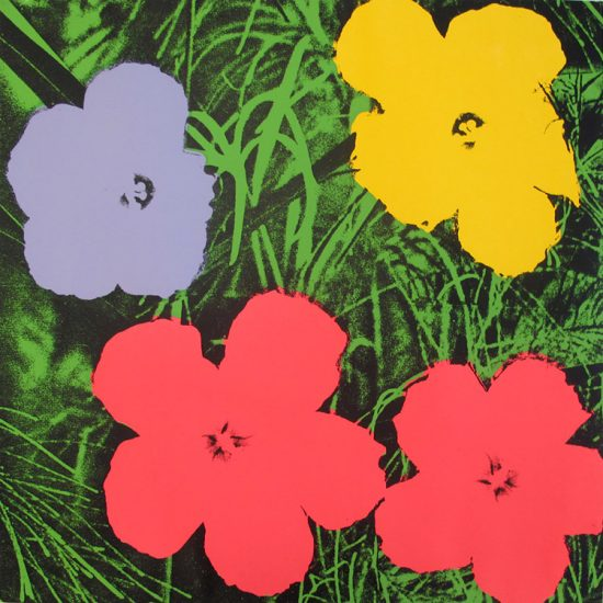 Andy Warhol Screen Print, Flowers 73, from Flowers Portfolio, 1970