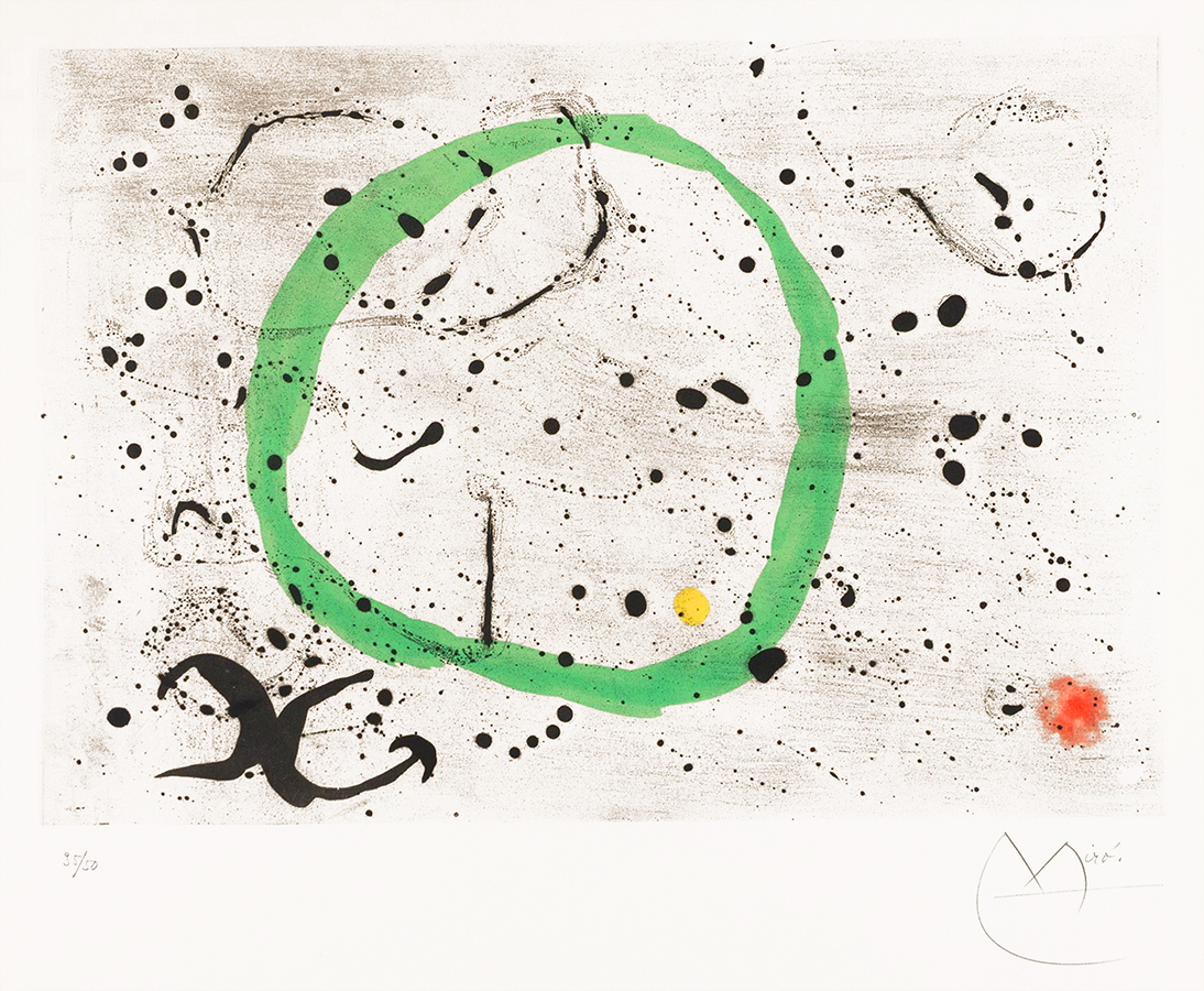Joan Miro Aquatint Fond Marin II (Seabed II) 1963 for sale