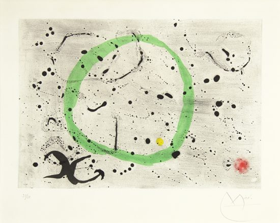 Joan Miró Lithograph, Fond Marin I (Seabed II), 1963