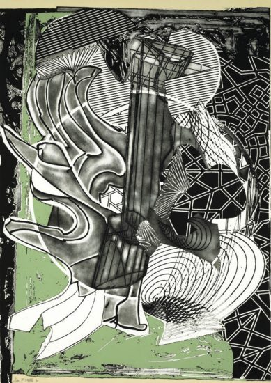 Frank Stella Lithograph, Fossil Whale, from Moby Dick Engravings, 1991