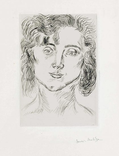 Henri Matisse Etching, From Cinquante Dessins, 1920
