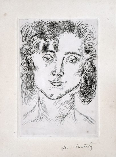 Henri Matisse Etching, From Cinquante Dessins, 1920